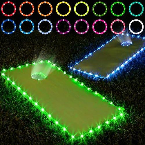 Cornhole Light for Hole and Board Corn Hole Lights with Remote Control for Cornhole Game Panapo Cornhole Lights